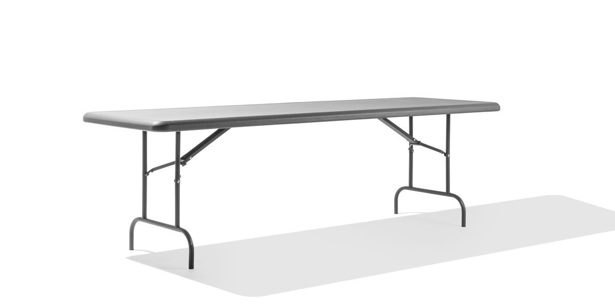 "96""w x 30""d Charcoal Folding Table TBL013698"