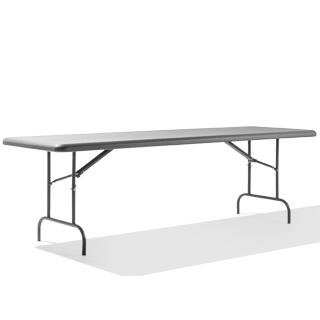 "96""w x 30""d Charcoal Folding Table TBL013698"