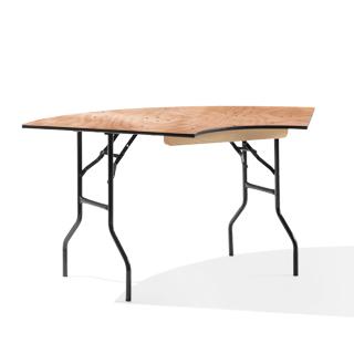 "66""w x 30""d Serpentine Wood Laminate Folding Table TBL014150"