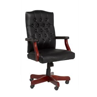 Black Vinyl Executive Swivel Chair TRD009038