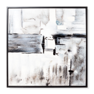 "40""w x 40""d Black + White Art ART014312"