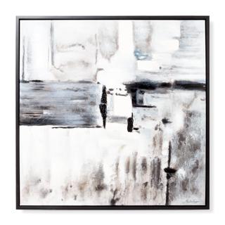 "40""w x 40""d Black + White Art ART014312"