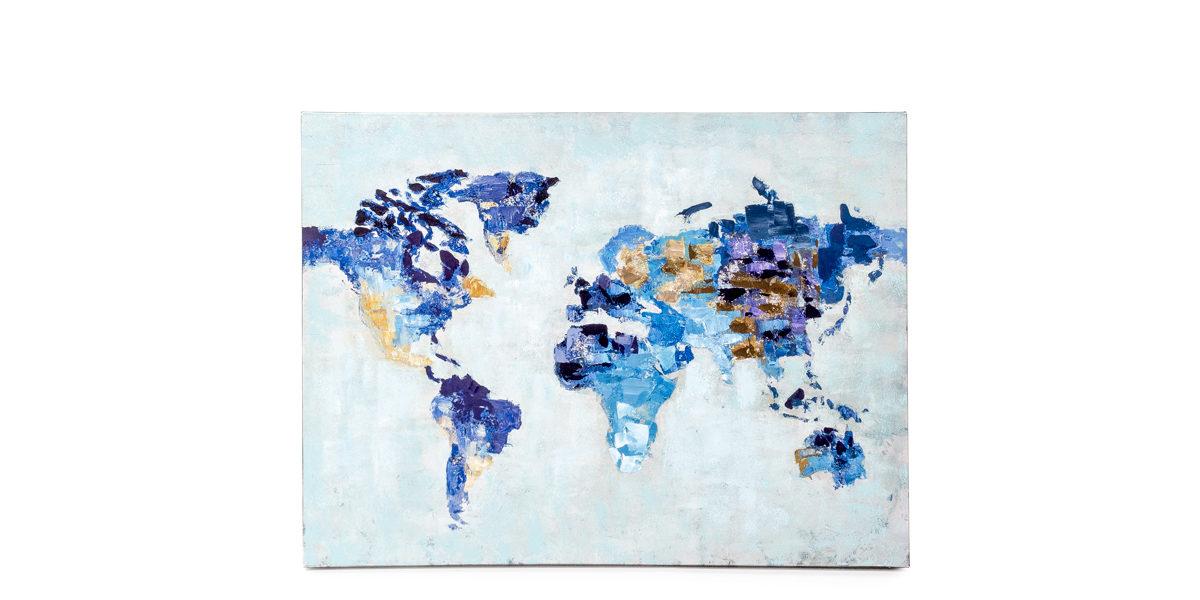 "40""w x 30""h Map Art ART014316"