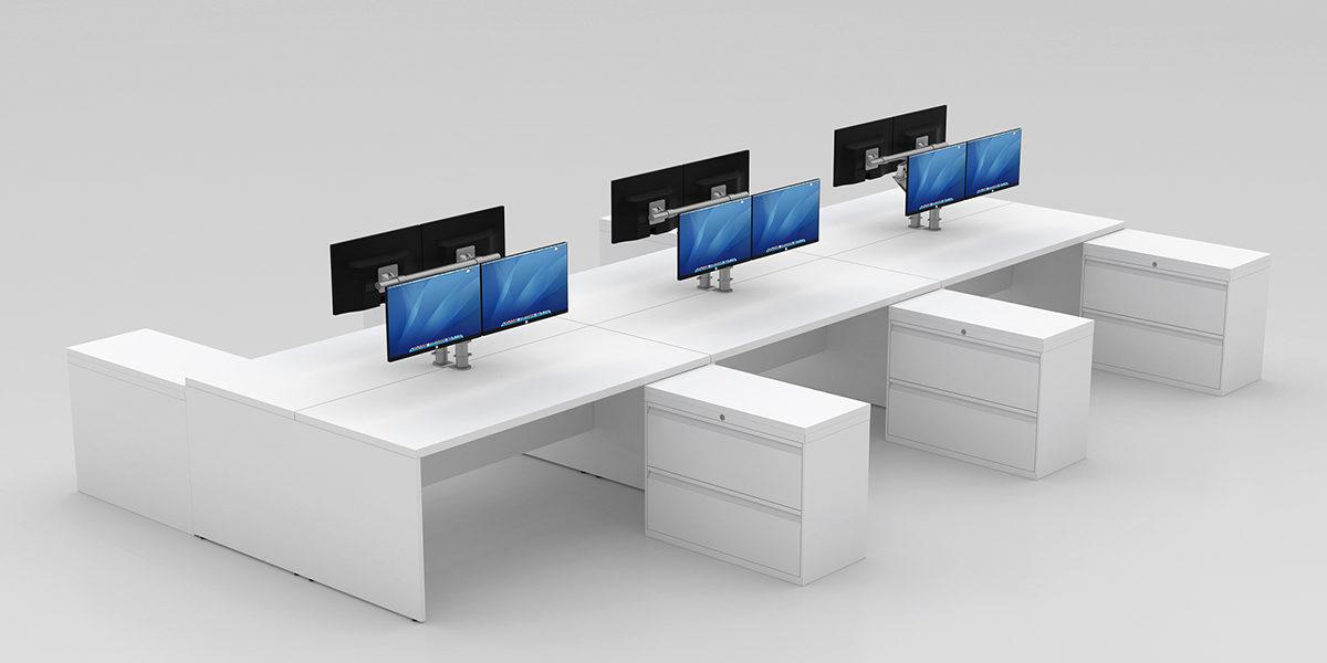 Benching Workstation (End Panels + Returns)
