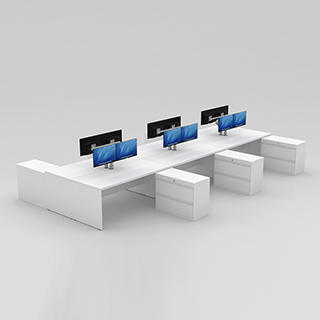 Benching Workstation (End Panels + Returns)