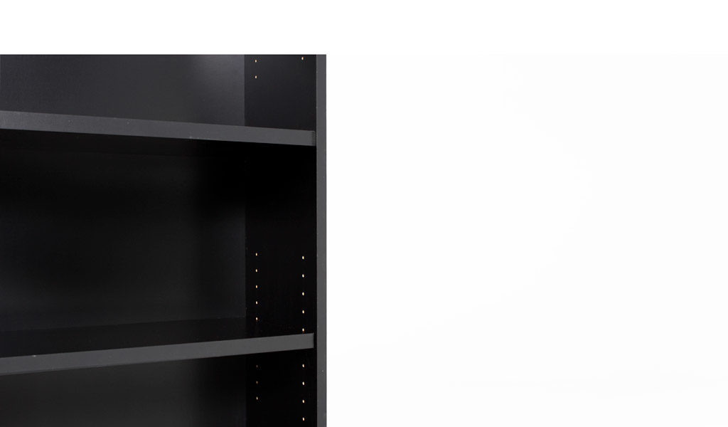 "36""w x 72""h Black Matte Bookcase BKC012445"