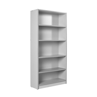 "36""w x 72""h Light Grey Laminate Bookcase BKC013208"