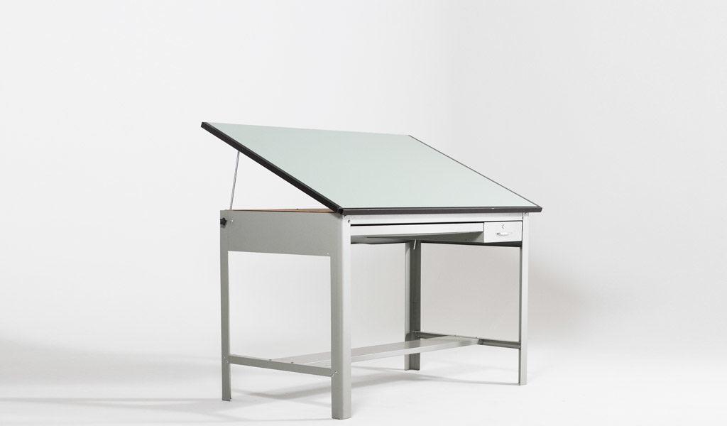 "60""w x 38""d Metal Drafting Table TBL002942"