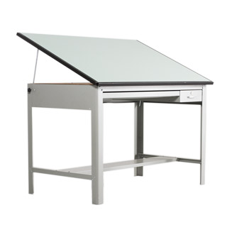 "60""w x 38""d Metal Drafting Table TBL002942"