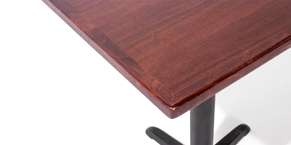 "24""w x 24""d Walnut Veneer Café Table Top TBL007494"