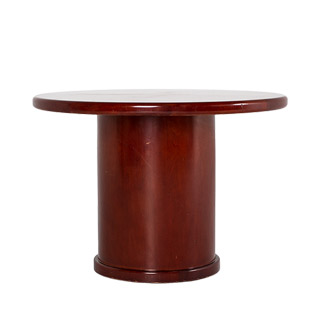"42""dia Dark Cherry Round Conference Table TBL011058"