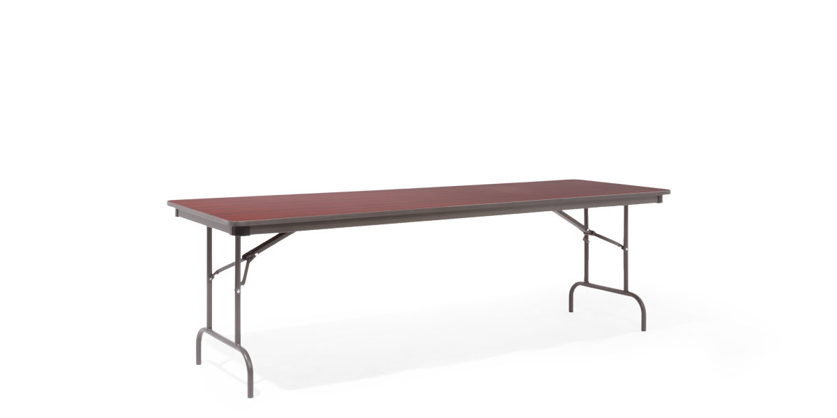 "96""w x 30""d Mahogany Laminate Folding Table TBL013020"