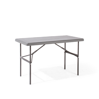 "48""w x 24""d Grey Resin Folding Table TBL013496"