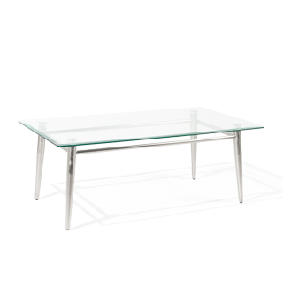 "42""w x 24""d Glass Coffee Table TBL013692"