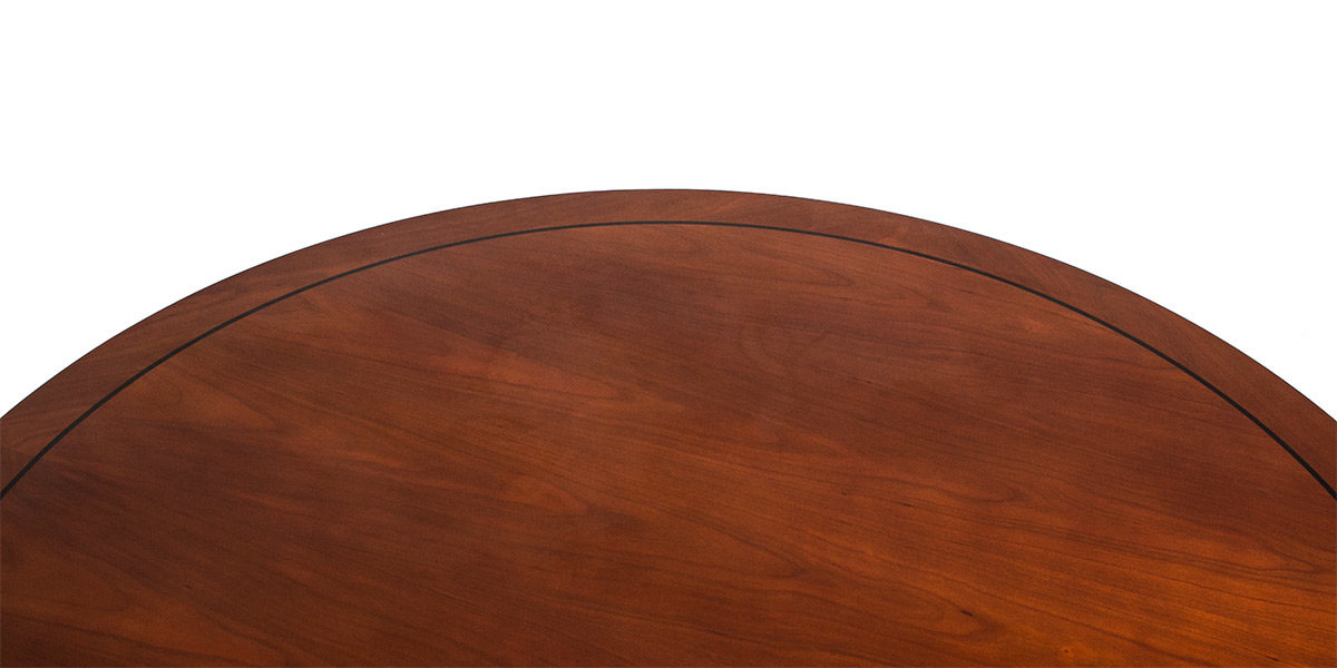"48""dia Cherry Veneer Round Table TBR010420"