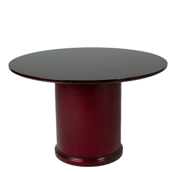 Dia Mahogany Round Conference Table TBR Arenson Office - Round conference table for 10