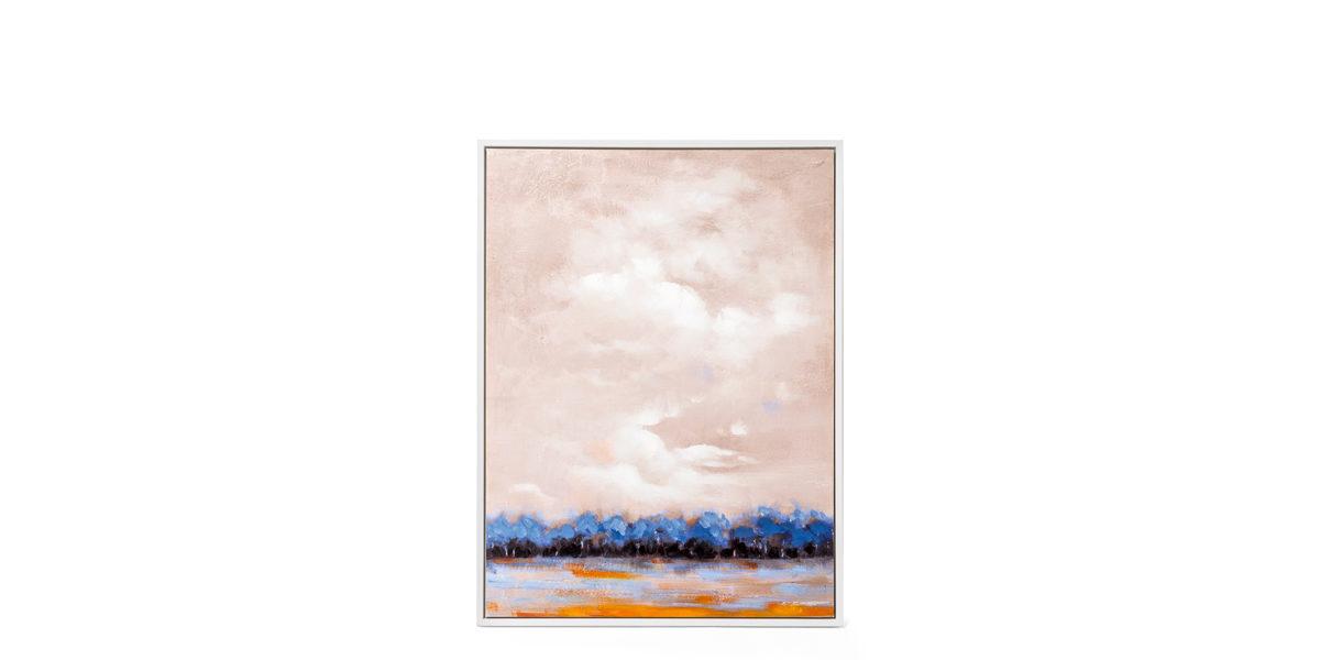 """40""""w x 50""""h Blue Abstract Art ART014324"""