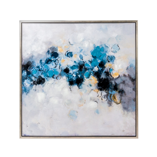 "40""w x 40""h Blue Abstract Art ART014325"