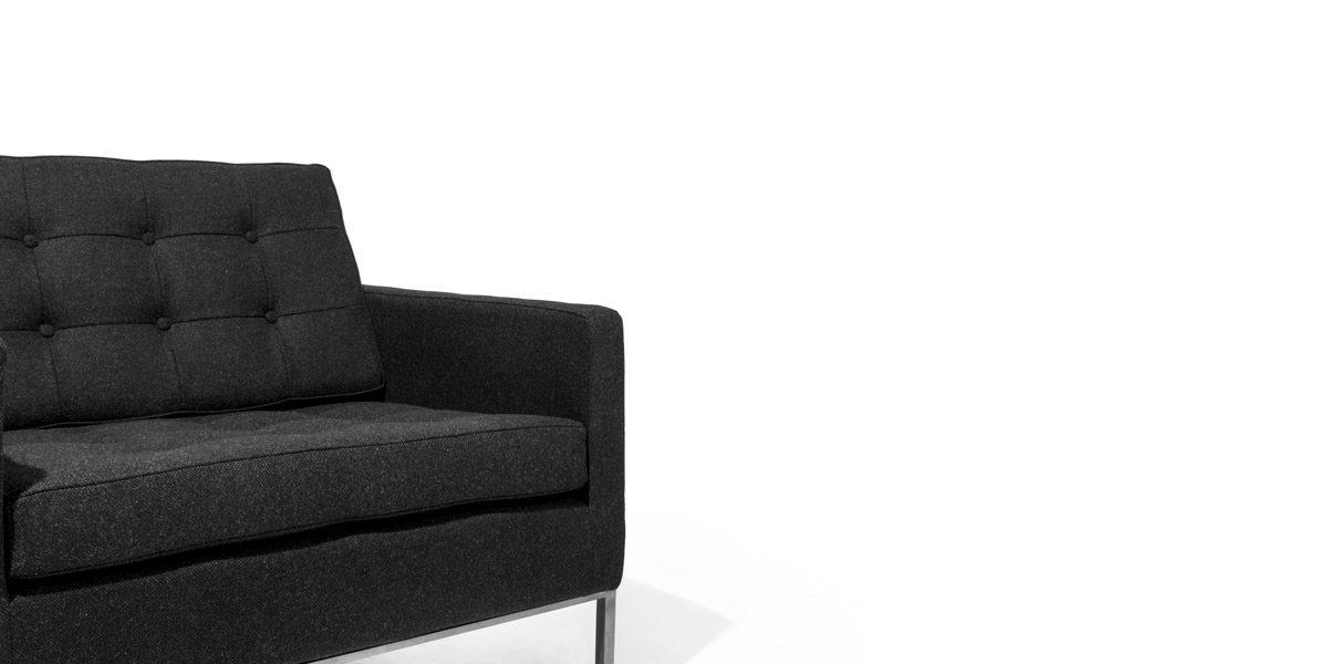 Charcoal Grey Club Chair CHR014066