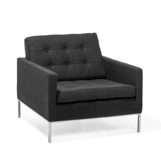 Charcoal Grey Club Chair CHR014066