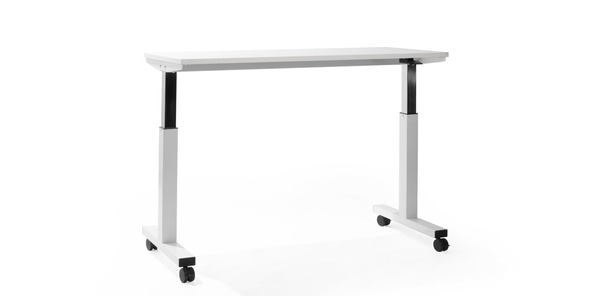 "60""w x 24""d White Adjustable Table Desk DSK014348"