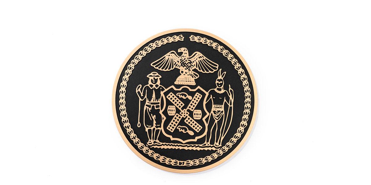 """14""""dia Bronze Lectern Seal LEC014298"""