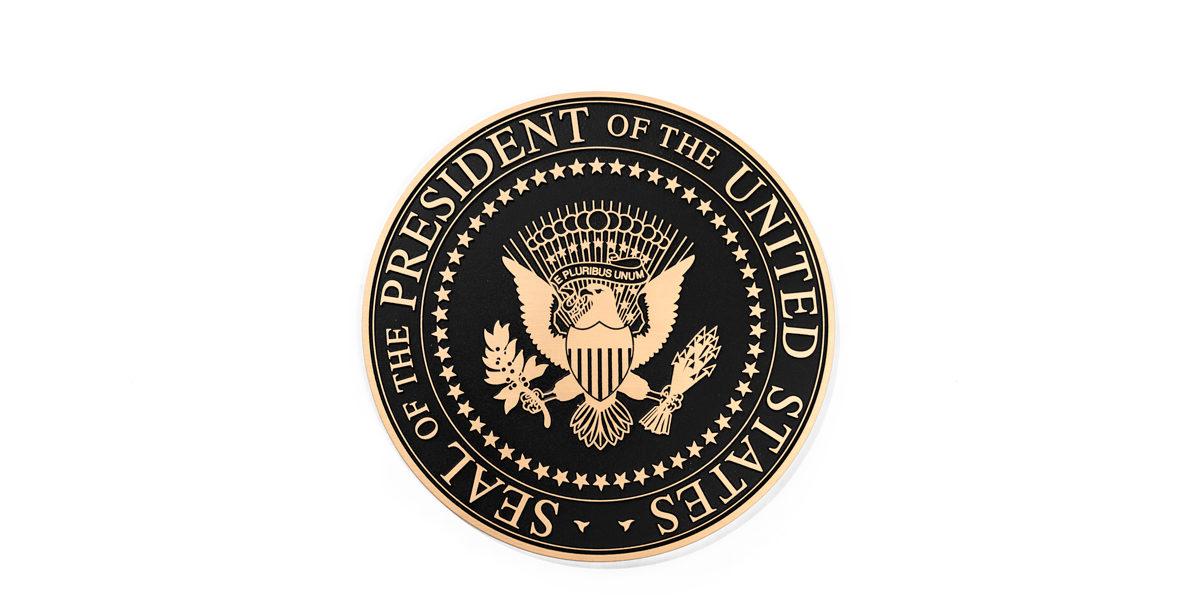 """14""""dia Bronze Lectern Seal LEC014299"""