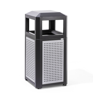 "16""d x 16""w Perforated Steel Waste Receptacle MIS014344"