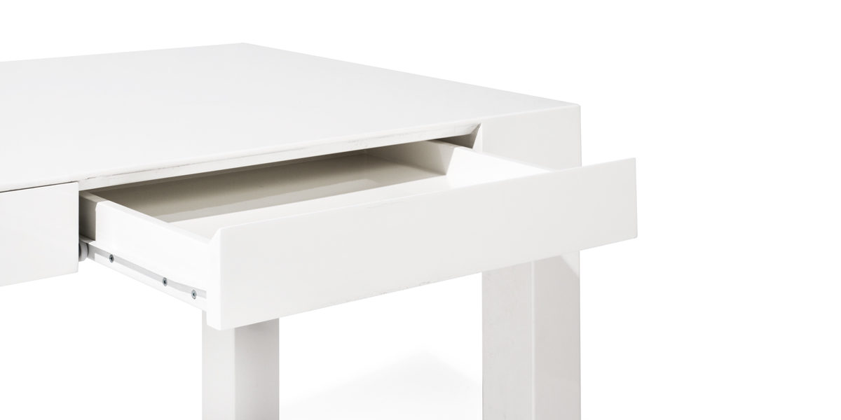 "48""w x 24""h White High Gloss Table Desk TBL014165"