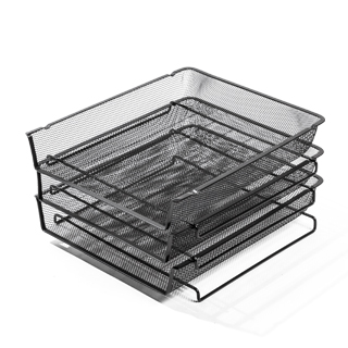 Black Mesh Letter Tray AC014339