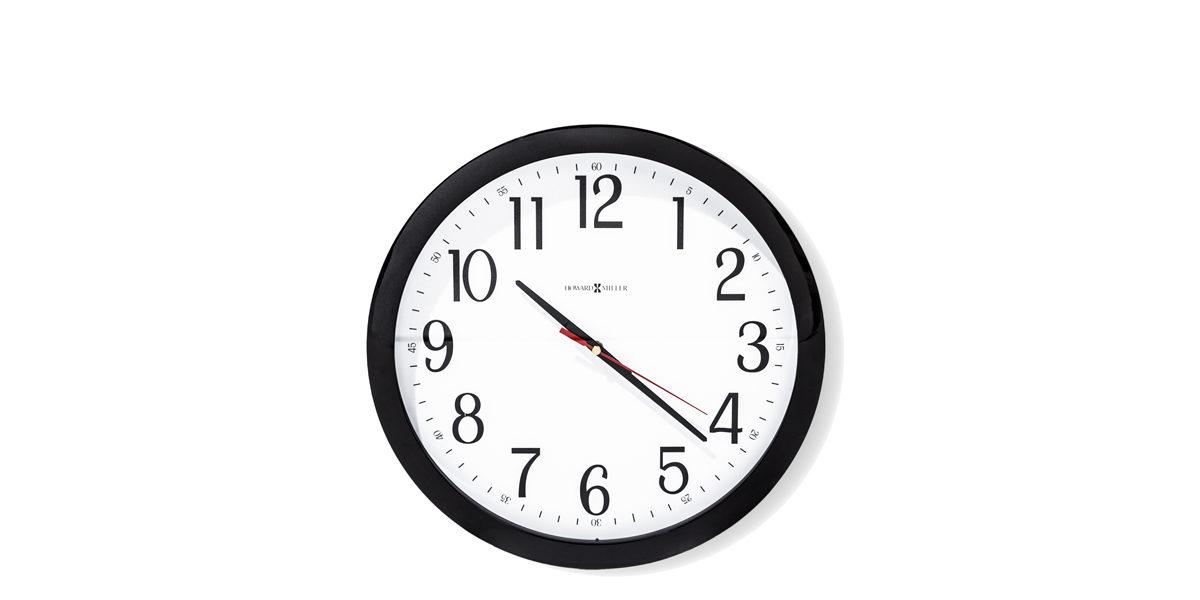 "16""dia Glossy Black Clock ACC014354"