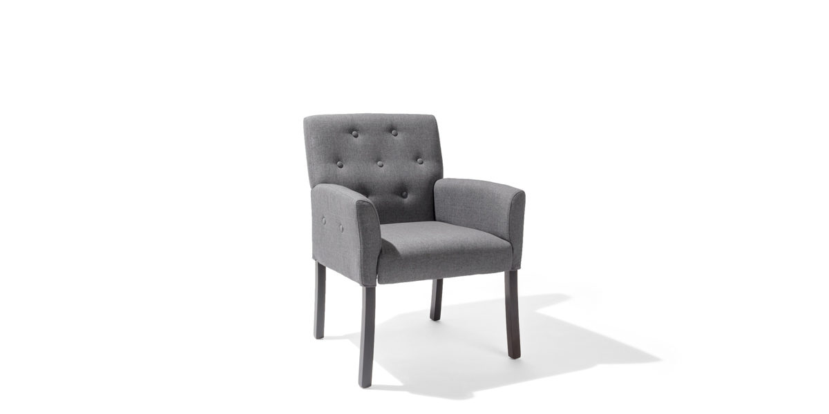 Grey Linen Arm Chair CHR014254