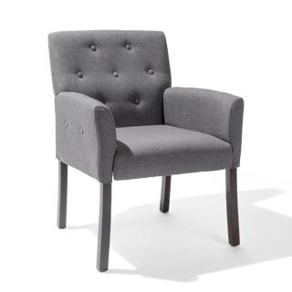 Grey Linen Arm Chair CHR014254