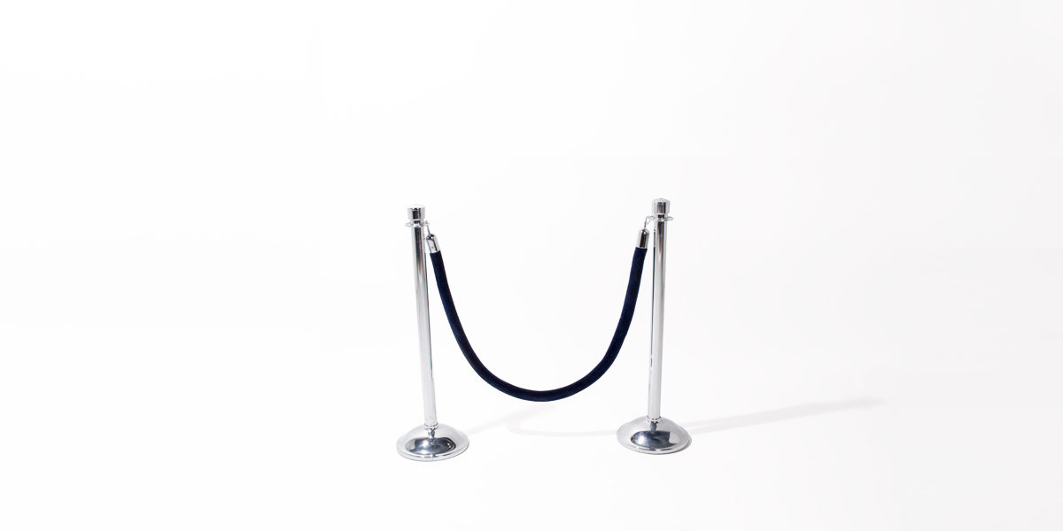 "38.5""h Chrome Stanchion MIS013086"