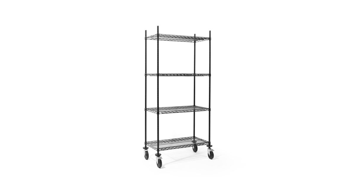 "36""w x 77""h Black Shelving Unit SHV014347"