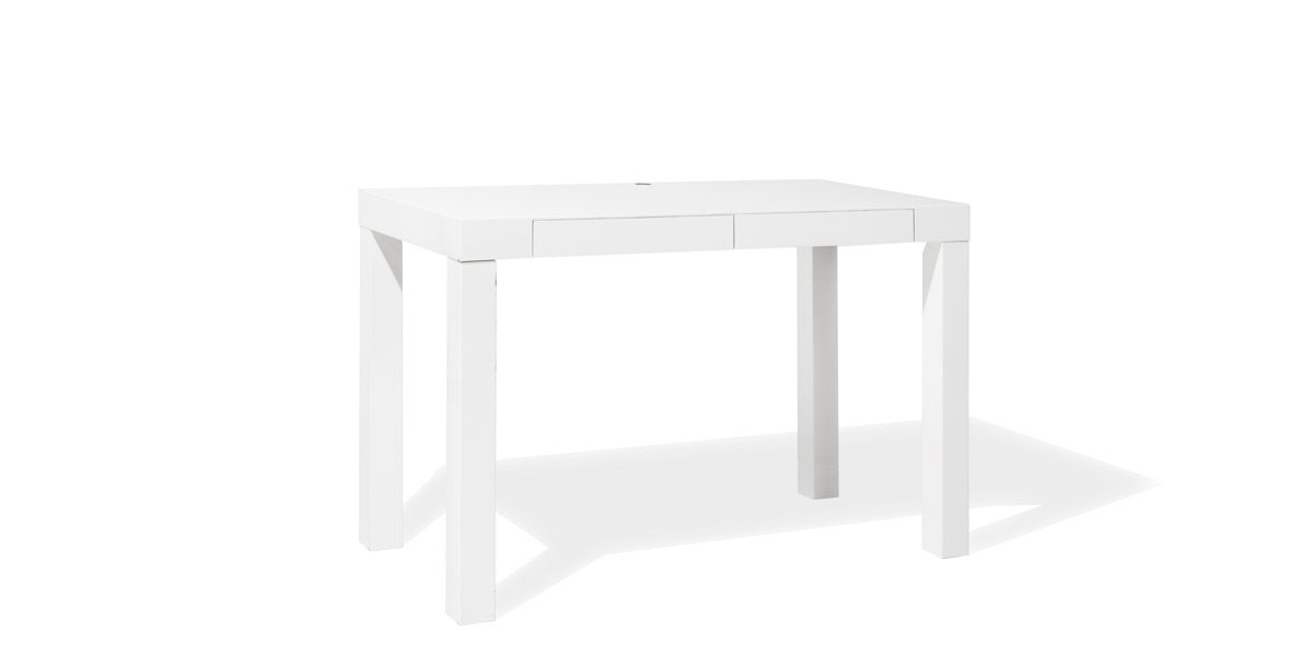 48 W X 24 H White High Gloss Table Desk Tbl014165