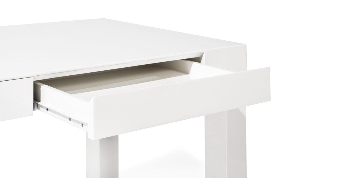 "48""w x 24""h White High Gloss Table Desk TBL014165"