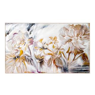 """63""""w x 46""""h White Floral Art ART014321"""