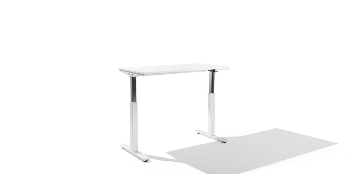 "48""w x 24""d White Adjustable Table Desk DSK014338"