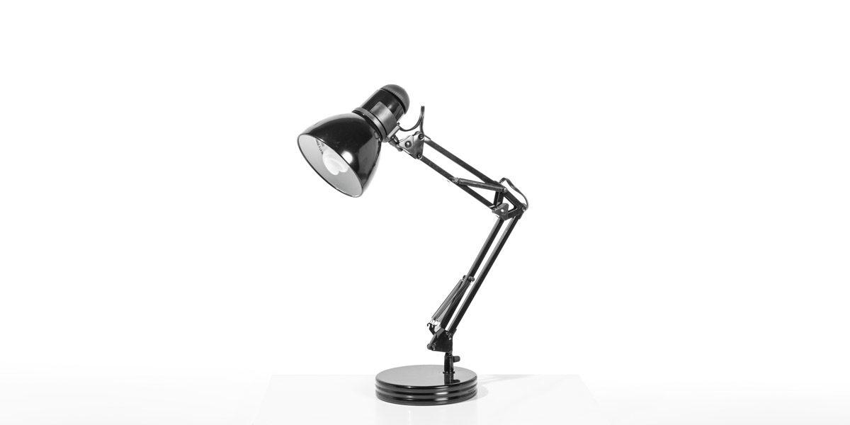 "16.25""h Black Task Lamp LGT014364"