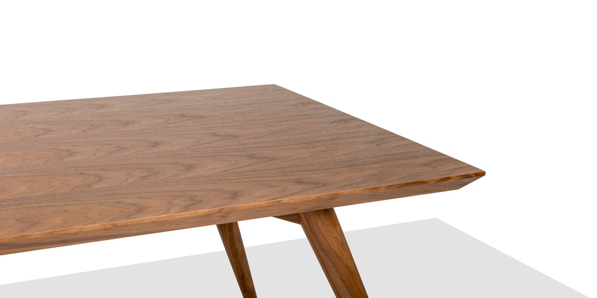"39.5""w x 78.75""d Walnut Dining Table TBL014368"