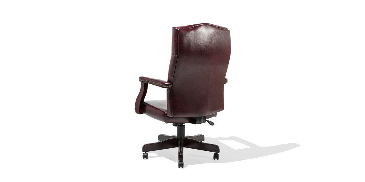 Traditional Oxblood Vinyl Hi-Back Executive Chair TRD011021