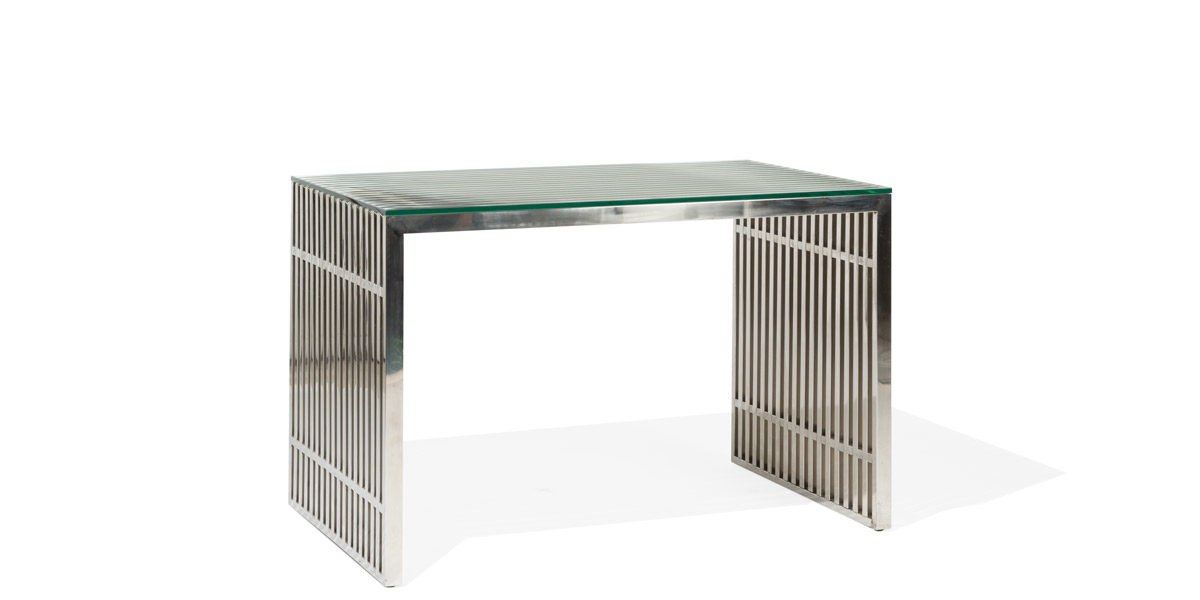 "48.5""w x 31""d Stainless Steel Desk DSK013934"