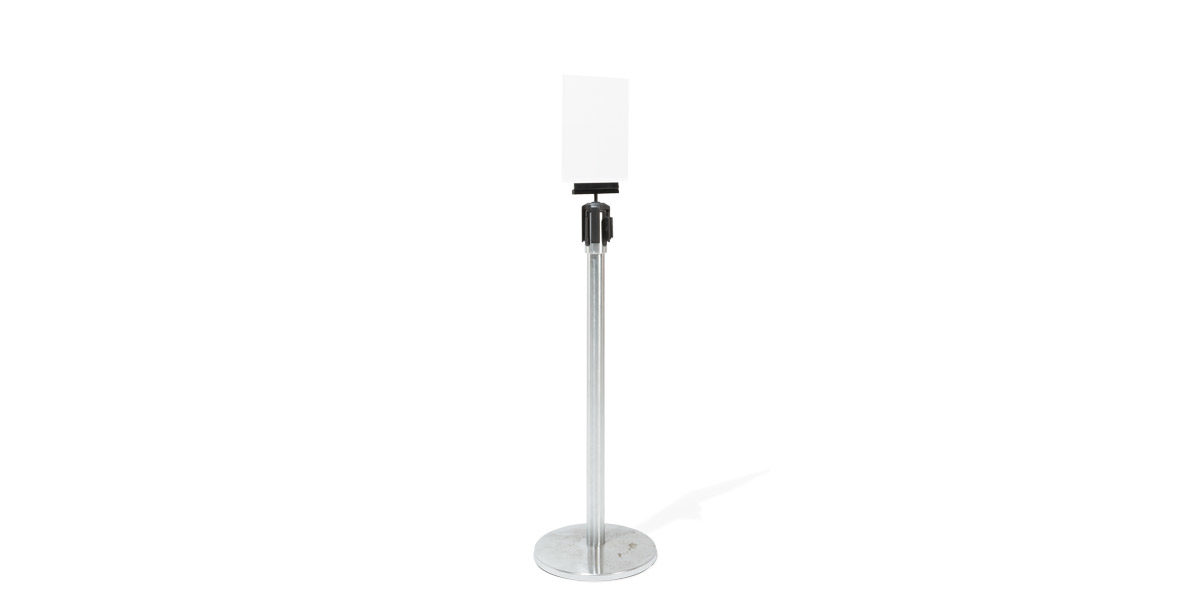 "11""h Satin Chrome Sign Stanchion MIS014345"