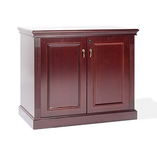 "36""w x 20""d Traditional Dark Cherry Storage Cabinet CAB014284"