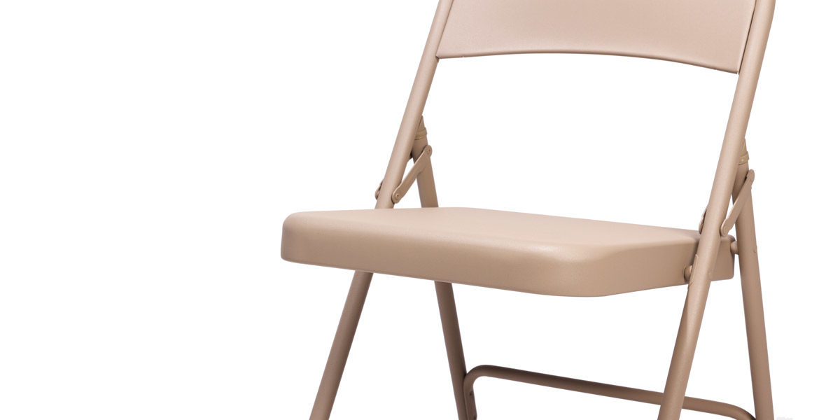 Tan Steel Folding Chair CHR014434