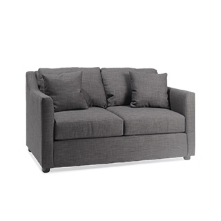 "62""w x 40""d Charcoal Grey Loveseat LVS014453"