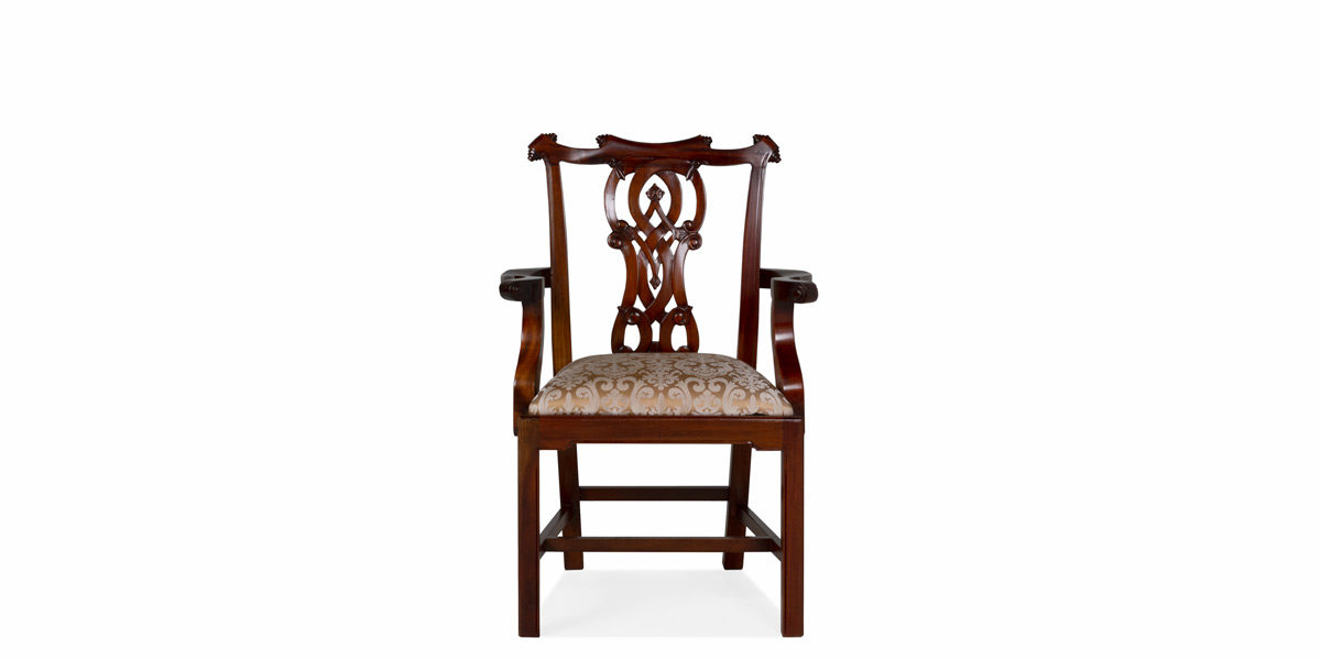 Walnut Chippendale Arm Chair CHR012541
