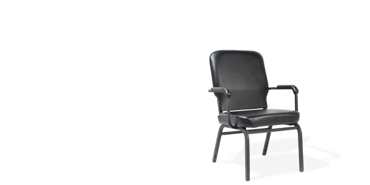 Black Vinyl Arm Chair CHR014465