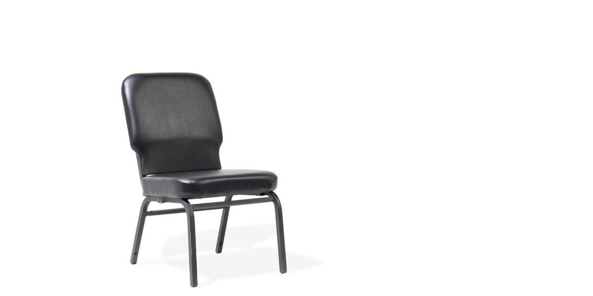 Black Vinyl Side Chair CHR014466